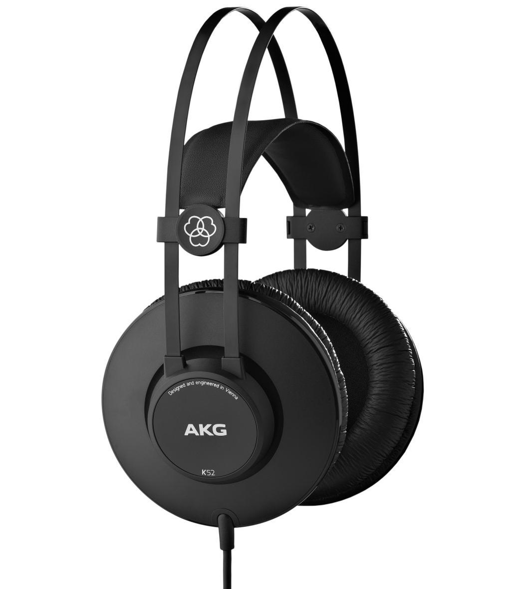 Powieksz do pelnego rozmiaru AKG K 52, AKG K52, AKG K-52, słuchawki profesjonalne, słuchawki studyjne, słuchawki realizatorskie, słuchawki uniwersalne, słuchawki z pałąkiem, słuchawki nagłowne, słuchawki wokółuszne, słuchawki zamknięte, słuchawki z kablem jednostronnym