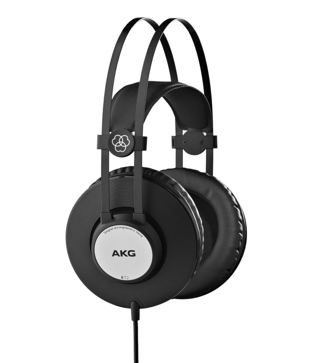 Powieksz do pelnego rozmiaru AKG K 72, AKG K72, AKG K-72, słuchawki profesjonalne, słuchawki studyjne, słuchawki realizatorskie, słuchawki uniwersalne, słuchawki z pałąkiem, słuchawki nagłowne, słuchawki wokółuszne, słuchawki zamknięte, słuchawki z kablem jednostronnym
