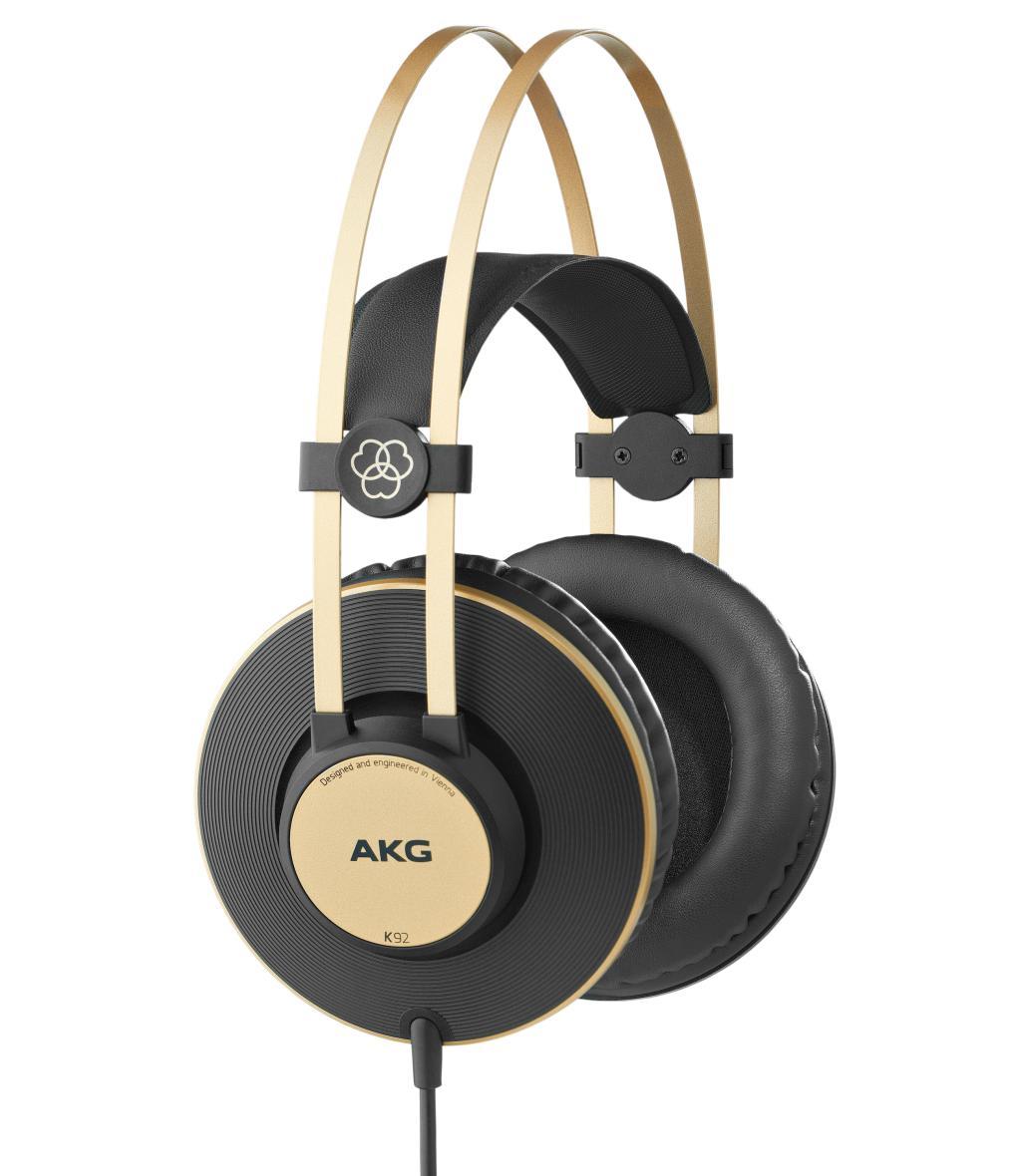 Powieksz do pelnego rozmiaru AKG K 92, AKG K92, AKG K-92, słuchawki profesjonalne, słuchawki studyjne, słuchawki realizatorskie, słuchawki uniwersalne, słuchawki z pałąkiem, słuchawki nagłowne, słuchawki wokółuszne, słuchawki zamknięte, słuchawki z kablem jednostronnym