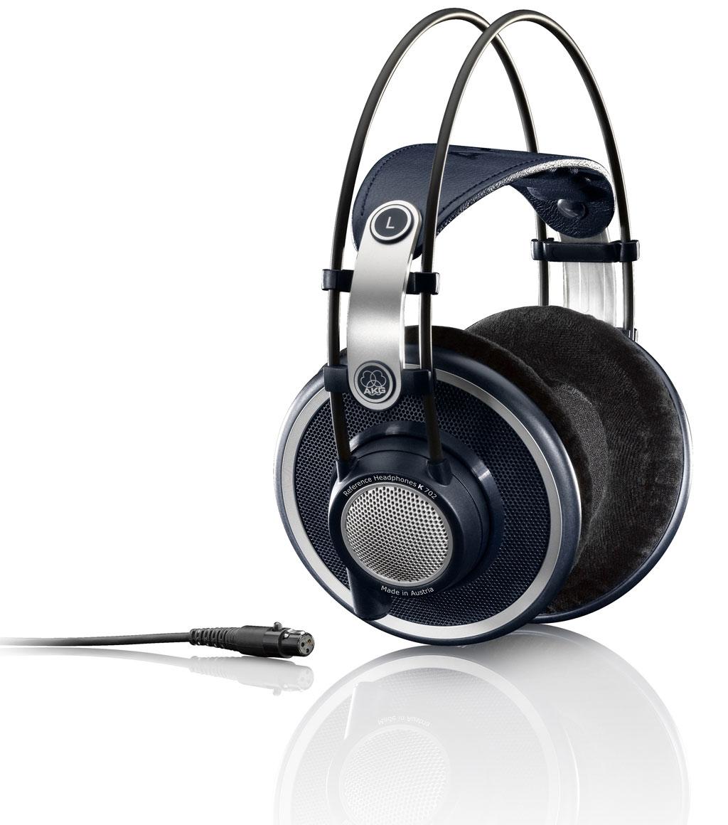 Powieksz do pelnego rozmiaru AKG K 702, AKG K702, AKG K-702, słuchawki hi-fi, słuchawki hifi, słuchawki hi-end, słuchawki hiend, słuchawki profesjonalne, słuchawki studyjne, słuchawki realizatorskie, słuchawki z pałąkiem, słuchawki nagłowne, słuchawki nauszne, słuchawki otwarte, słuchawki z kablem jednostronnym, słuchawki z kablem wymiennym,  słuchawki z odłączanym przewodem