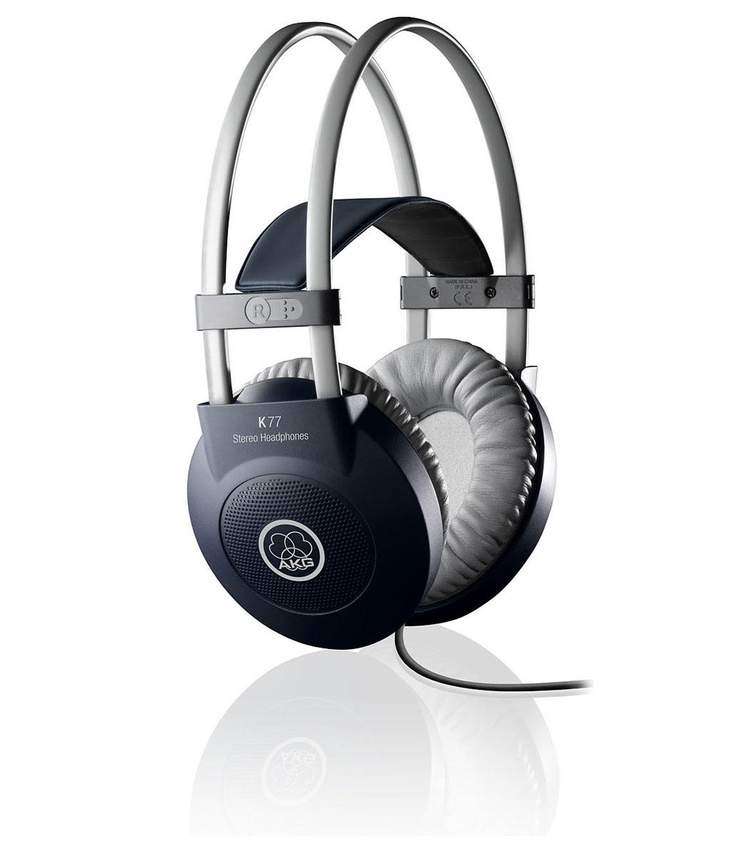 Powieksz do pelnego rozmiaru AKG K 77, AKG K77, AKG K-77, słuchawki profesjonalne, słuchawki studyjne, słuchawki realizatorskie, słuchawki uniwersalne, słuchawki z pałąkiem, słuchawki nagłowne, słuchawki wokółuszne, słuchawki zamknięte, słuchawki z kablem jednostronnym