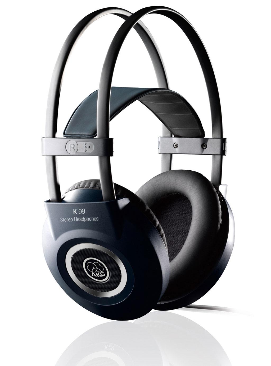 Powieksz do pelnego rozmiaru AKG K 99, AKG K99, AKG K-99, słuchawki profesjonalne, słuchawki studyjne, słuchawki hi-fi, słuchawki realizatorskie, słuchawki uniwersalne, słuchawki z pałąkiem, słuchawki nagłowne, słuchawki wokółuszne, słuchawki półotwarte, słuchawki z kablem jednostronnym
