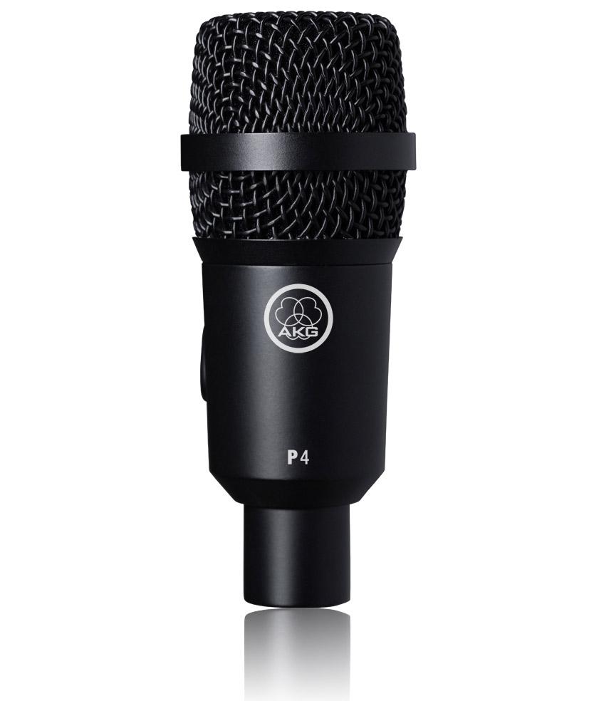 Powieksz do pelnego rozmiaru AKG P 4, P4, P-4, mikrofon na statyw, mikrofon przewodowy, mikrofon dynamiczny, mikrofon kardioidalny, mikrofon instrumentalny, mikrofon estradowy, mikrofon perkusyjny, mikrofon do perkusji, mikrofon do instrumentów dętych,