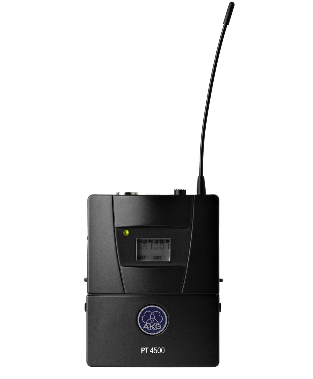 Powieksz do pelnego rozmiaru AKG PT 4500, AKG PT-4500, AKG PT4500, mikrofon bezprzewodowy, zestaw bezprzewodowy, system mikrofonowy bezprzewodowy, mikrofon kieszonkowy, nadajnik mikrofonowy kieszkonkowy, nadajnik kieszonkowy, nadajnik miniaturowy, nadajnik typu microport, nadajnik microport, micro-port